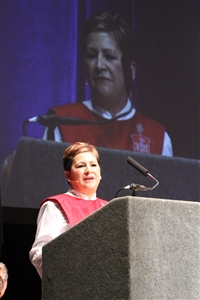 Bishop Cynthia Fierro Harvey speaking