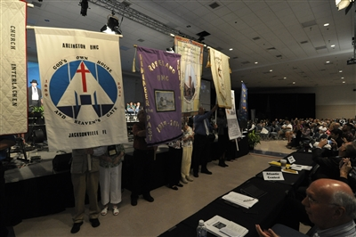 Church banners on parade at Annual Conference 2014