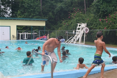 Swimming pool at Centenary Camp