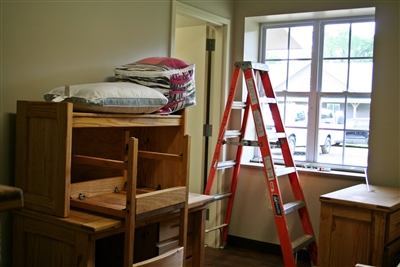 Bedroom being readied for occupancy
