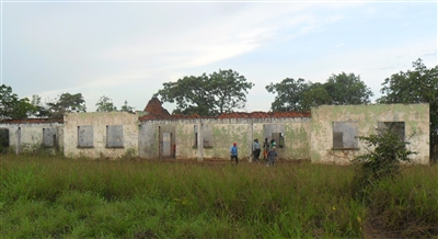 Boys dorm in runs after the war