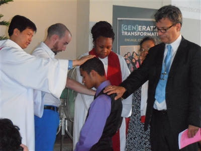 Edward White of Lakeland is commissioned at Global Young People's event