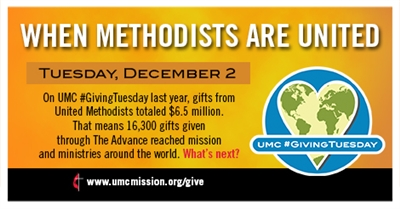 Logo for When Methodists Are United with date Dec. 2