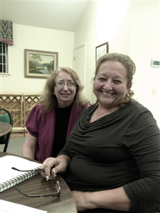 Donna Glasner, left, with student Zonia Cruz in ESOL tutoring at Faith UMC